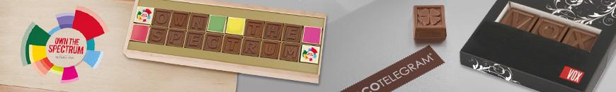 Nachricht aus Schokolade