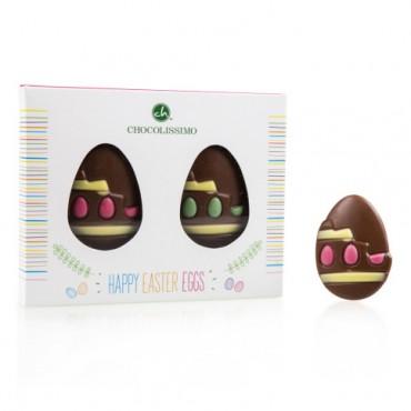 2 Bunte Osterei-Schokoladen