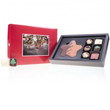 XMAS CHOCOPOSTCARD MIDI RED