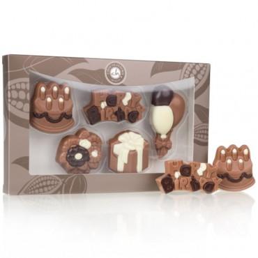 Geburtstags-Set aus Schokolade