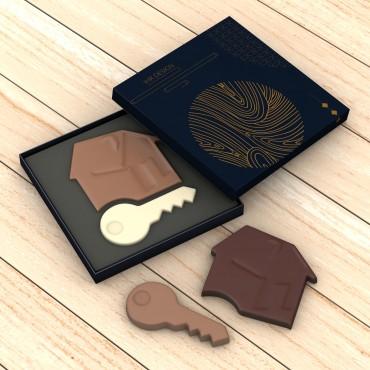 100-150 g - Zweiteilig - Sonderform - Zwei Schokoladensorten