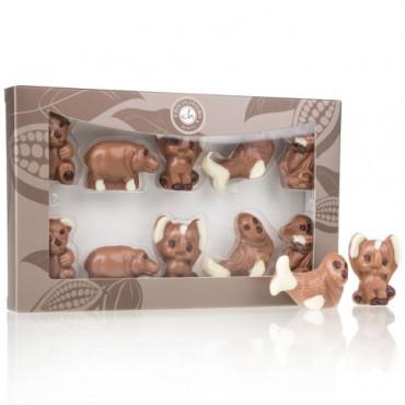 Zoo-Set aus Schokolade