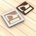 100-150 g - einteilig - Sonderform - Zwei Schokoladensorten