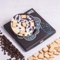 ChocoBall mit Kaffeebohnen, Kokos und Leibniz-Keksen