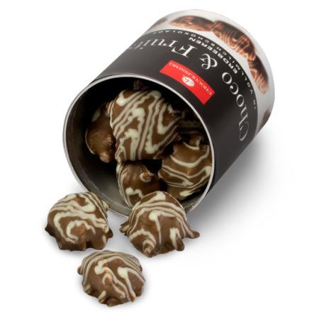 Früchte in Schokolade