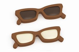 Schokoladen-Brille - mehrfarbig