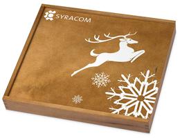 ChocoTelegram Holzverpackung mit Siebdruck