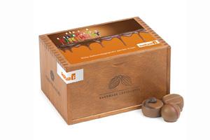 Chocolaterie mit Aufkleber