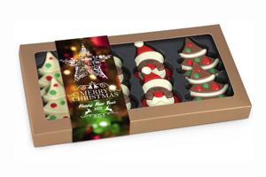 White Snow Schokoladenfiguren mit Banderole